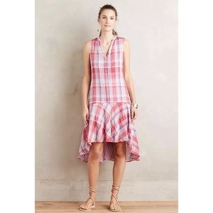 Anthropologie Maeve Plaid Pippa Swing Dress